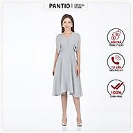 Đầm công sở chất liệu Tuýt-si dáng xòe không tay FDC32965 - PANTIO thumbnail