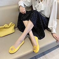 Giày nhựa đi mưa nữ hoa cúc thời trang mới nhất 257 thumbnail