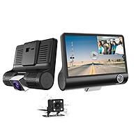 Camera hành trình ô tô 3 mắt Camera T03 (trước, trong, sau xe), Màn hình 4 inch FHD 1080P - Hàng nhập khẩu thumbnail
