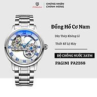 Đồng hồ cơ nam PAGINI PA2288 lộ máy cao cấp dây thép đúc Phong cách sang trọng, lịch lãm thumbnail