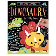 Scratch and Sparkle Dinosaurs Activity Book - Sách tương tác sờ và cảm nhận cho bé chủ đề Khủng Long thumbnail