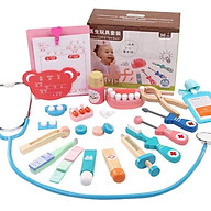 Bộ đồ chơi bác sĩ bằng gỗ thumbnail
