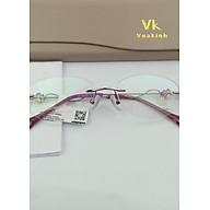 Gọng kính cận không viền càng đính ngọc lục bảo VK-4 thumbnail