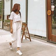 [Made in VietNam] Quần Tây Nữ QuDu Lưng Cao Màu Trắng Đen Xám Kiểu Baggy Hàng Thiết Kế Che Khuyết Điểm thumbnail