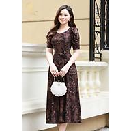 Váy trung niên LYBEE chất thun kim sa cõ dãn đầm trung tuổi cho mẹ mã 606 thumbnail