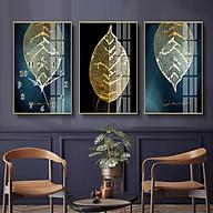 Tranh treo tường, tranh đồng hồ NT187 bộ 3 tấm ghép thumbnail
