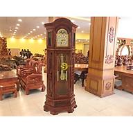 Đồng hồ tháp hoàng gia mái tròn gỗ cẩm lai DH310 thumbnail
