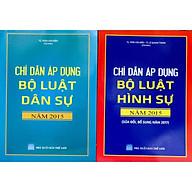 Bộ sách Chỉ dẫn áp dụng Bộ luật dân sự 2015 và Chỉ dẫn áp dụng Bộ luật hình sự 2015 sửa đổi bổ sung 2017 thumbnail