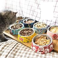 Bát ăn uống inox cao cấp họa tiết cho thú cưng (giao màu ngẫu nhiên) thumbnail