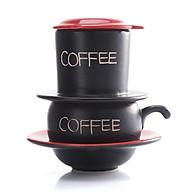 Phin Cafe Gốm Màu Đỏ Thấp MNV-CF001 thumbnail