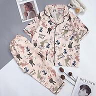Pijama quần dài áo ngắn tay hàng loại 1 chuẩn xịn pijama loại CỘC DÀI thumbnail