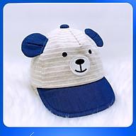 Nón Kết Bé Trai Gấu Sọc Vải Linen Cao Cấp Duy Ngọc Size 48 Dành Cho Bé Từ 1 Đến 2 Tuổi (5693) thumbnail