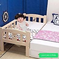 Giường cho bé, giường cũi cho bé ghép cạnh giường người lớn kích thước 150 70 40 dùng từ sơ sinh tới 10 tuổi thumbnail