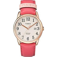 Timex Women s Easy Reader Date Leather Strap 38mm Watch thumbnail