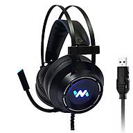 Tai nghe gaming Wangming WM9800 7.1 USB LED (Đen) - Hàng chính hãng thumbnail