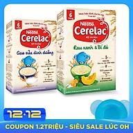 2 Hộp Bột Ăn Dặm Nestlé CERELAC Gạo Lức Trộn Sữa Và Rau Xanh Bí Đỏ - Tặng Bộ Chén Ăn Dặm Màu Ngẫu Nhiên thumbnail