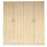 Tủ quần áo gỗ MDF 4 cánh 2mx1m6 thumbnail