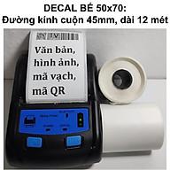 Tem bế 50x70 chuẩn GHN cho máy in nhiệt mini bluetooth không dây tem nhãn trà sữa ghi chú tự thiết kế thumbnail
