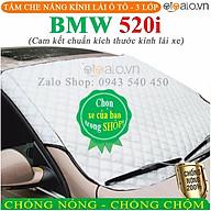 Tấm che chắn nắng kính lái dành cho ô tô BMW 520i CAO CẤP 3 Lớp Chắn Nắng Cản Nhiệt thumbnail