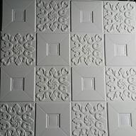10 tấm xốp dán tường giả da trắng thumbnail