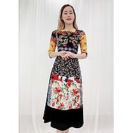 Áo Dài Cách Tân Kiểu Áo Dài In 3D Họa Tiết Hoa Nhí Và Hoa Văn Nền Đen ROMI 3149 (Không Kèm Váy) thumbnail