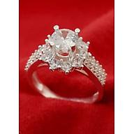 Nhẫn nữ Bạc Quang Thản, nhẫn bạc nữ ổ kết gắn đá kim cương nhân tạo 6 ly chất liệu bạc thật không xi mạ , phong cách trẻ trung thích hợp đeo tại các buối dạ tiệc, sinh nhật, làm quà tặng QTNU29 thumbnail