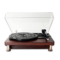 BT Retro Vinyl Record Player Record Player with Dustproof Cover Classic Nostalgic Style Record Player thumbnail