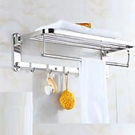 [SUS304] Kệ vắt khăn phòng tắm gấp đứng AIZA cao cấp inox 304 SÁNG BÓNG thumbnail