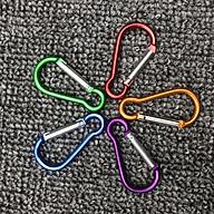 Bộ 5 móc khoá nhôm nhiều màu bền đẹp, siêu tiện dụng. thumbnail
