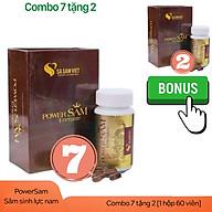 [Combo7 tặng 2] Thực phẩm chức năng tăng cường sinh lý nam giới POWERSAM - Tăng cường sinh lực, bổ thận tráng dương, mạnh gân cốt, Làm chậm mãn dục nam, không tác dụng phụ thumbnail