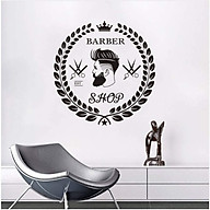 Decal dán kính tường Barber Shop siêu chất thumbnail