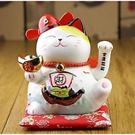 Mèo Thần Tài Vẫy Tay Nhật Bản 21cm 25cm + Tặng Kèm Mèo Sứ Nhí May Mắn + Tặng Kèm Pin & Hộp Quà Sang Trọng thumbnail