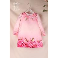 Áo dài cho bé, áo cách tân cho bé mặc tết màu hồng xinh xắn thumbnail