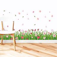 Decal dán chân tường hoa đồng tiền nhiều màu ZOOYOO XL7189 thumbnail