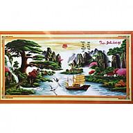 Tranh thêu Thuận Buồm Xuôi gió (189 x 92 cm) thumbnail