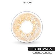 Kính áp tròng Hàn Quốc màu nâu VIVIMOON Bliss Brown 13.2 mm thumbnail