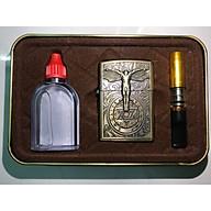 Combo Bật Lửa Đá Xăng Hình Satan + Tẩu hút thuốc + Chai xăng - Z19 thumbnail
