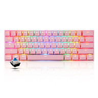 Motospeed CK62 61 Keys RGB Mechanical Keyboard USB Wired BT Dual Mode Gaming Keyboard Pink with OUTEMU Red Switches thumbnail