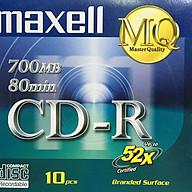 Đĩa CD-R Maxell 700MB - Hàng chính hãng (1 hộp 10 cái - 10 vỏ đựng) thumbnail