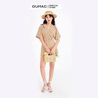 Áo sơ mi nữ GUMAC DB714 Jumpsuit phối túi thumbnail