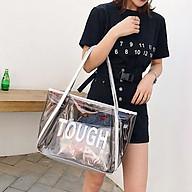 Túi Xách Nữ Đeo Vai, Nhựa PVC Trong Suốt, Kèm Túi Nhỏ Bên Trong thumbnail