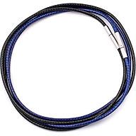 Combo 2 dây vòng cổ cao su đen, xanh dương móc inox DCSEXD1 - Dây dù bọc cao su thumbnail