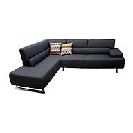 Sofa Vải Góc Phải Juno Alicia 268 x 200 x 85 cm (Xám đậm) thumbnail