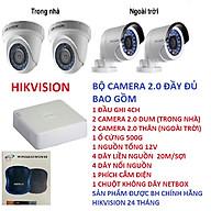 Bộ camera 2.0 HIKVISION 4 con ,đầy đủ phụ kiện đi kèm,HÀNG CHÍNH HÃNG thumbnail