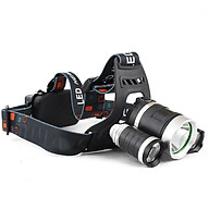 Đèn pin 3 bóng đeo đầu- ánh sáng trắng rõ nét ĐẾN 200M+ tặng 01 đũa tre cao cấp thumbnail