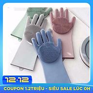 Bộ 2 găng tay rửa bát silicon tạo bọt đa năng thumbnail