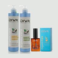 Combo Bộ dầu gội xả phục hồi giữ màu Diva 500ml thumbnail