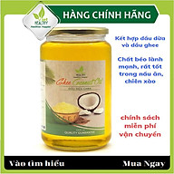 Dầu dừa ghee Viet healthy 1000ml, giàu vitamin A,D,K2,E, giúp thải độc, giàu chất xơ, bảo vệ tim mạch, tăng miễn dịch thumbnail