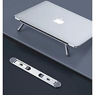 Giá Đỡ Gấp Gọn Dành Cho Macbook Lap Top, Metal Laptop Stand, Khung Hợp Kim Nhôm CNC, Doron MS102, Có Tùy Chỉnh Góc Nghiêng - Hàng Chính Hãng thumbnail