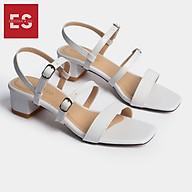 Gia y sandal cao gót Erosska thơ i trang mũi vuông phô i dây quai ma nh cao 3cm EB018 thumbnail